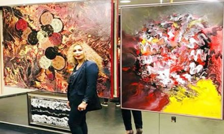 Vernissage de l'exposition de l'artiste peintre Rajae Lahlou