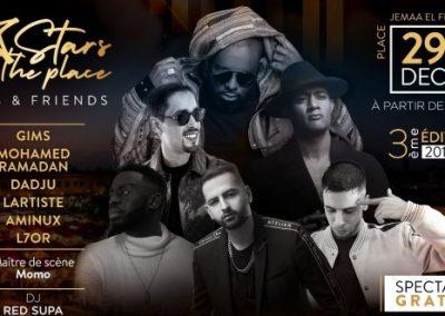 Gims offre un concert gratuit à ses fans à Jamaâ El Fna