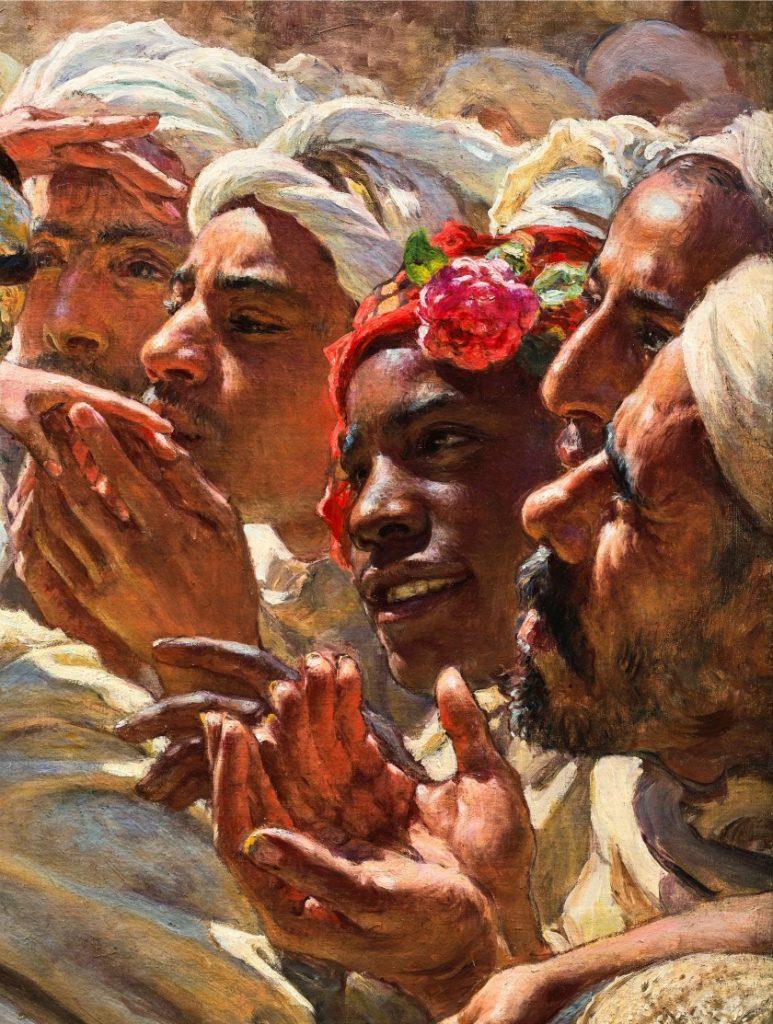 """la toile d'Etienne Dinet """"Le fils d'un Saint Mrabeth"""" bat le record d'enchères au Maroc 1"""