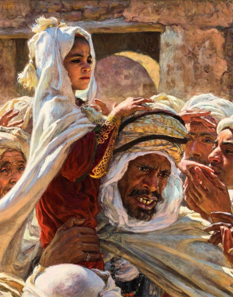 """la toile d'Etienne Dinet """"Le fils d'un Saint Mrabeth"""" bat le record d'enchères au Maroc 3"""