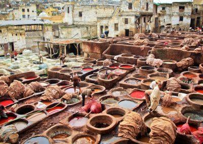 la tannerie, élément vital dans l'industrie marocaine