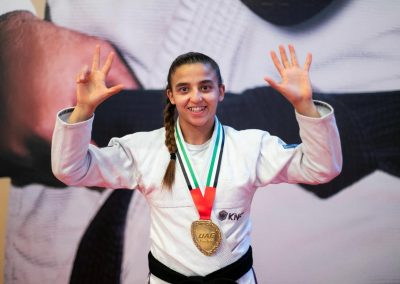 Amal Amjahid, la jiu-jitsuka belgo-marocaine, sacrée championne du monde
