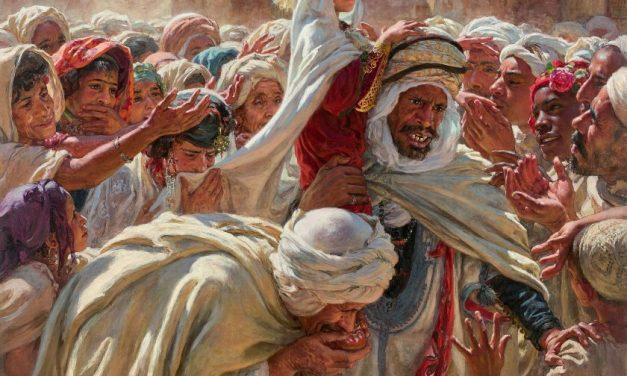 """la toile d'Etienne Dinet """"Le fils d'un Saint Mrabeth"""" bat le record d'enchères au Maroc"""