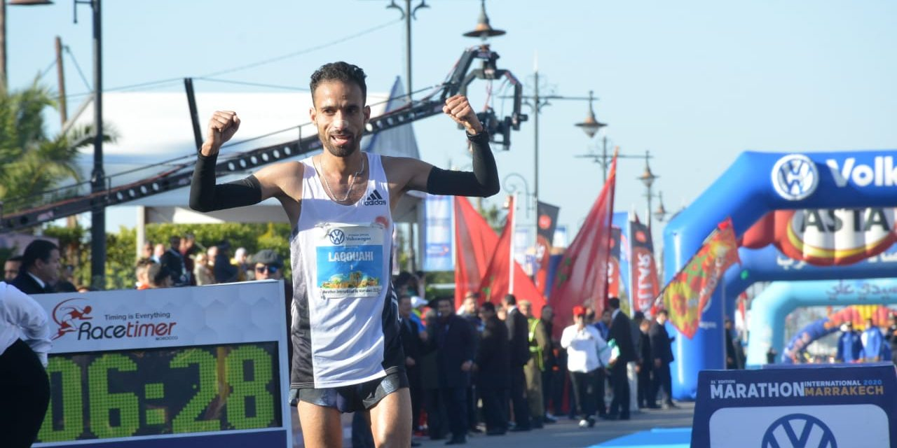 marathon international de Marrakech: L'athlète marocain Hicham Laqouahi remporte la 31è édition du marathon
