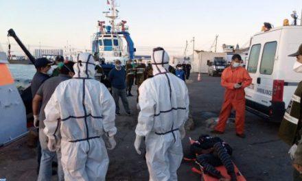 Migration clandestine: 21 personnes secourues et 2 cadavres repêchés près de Tan-Tan