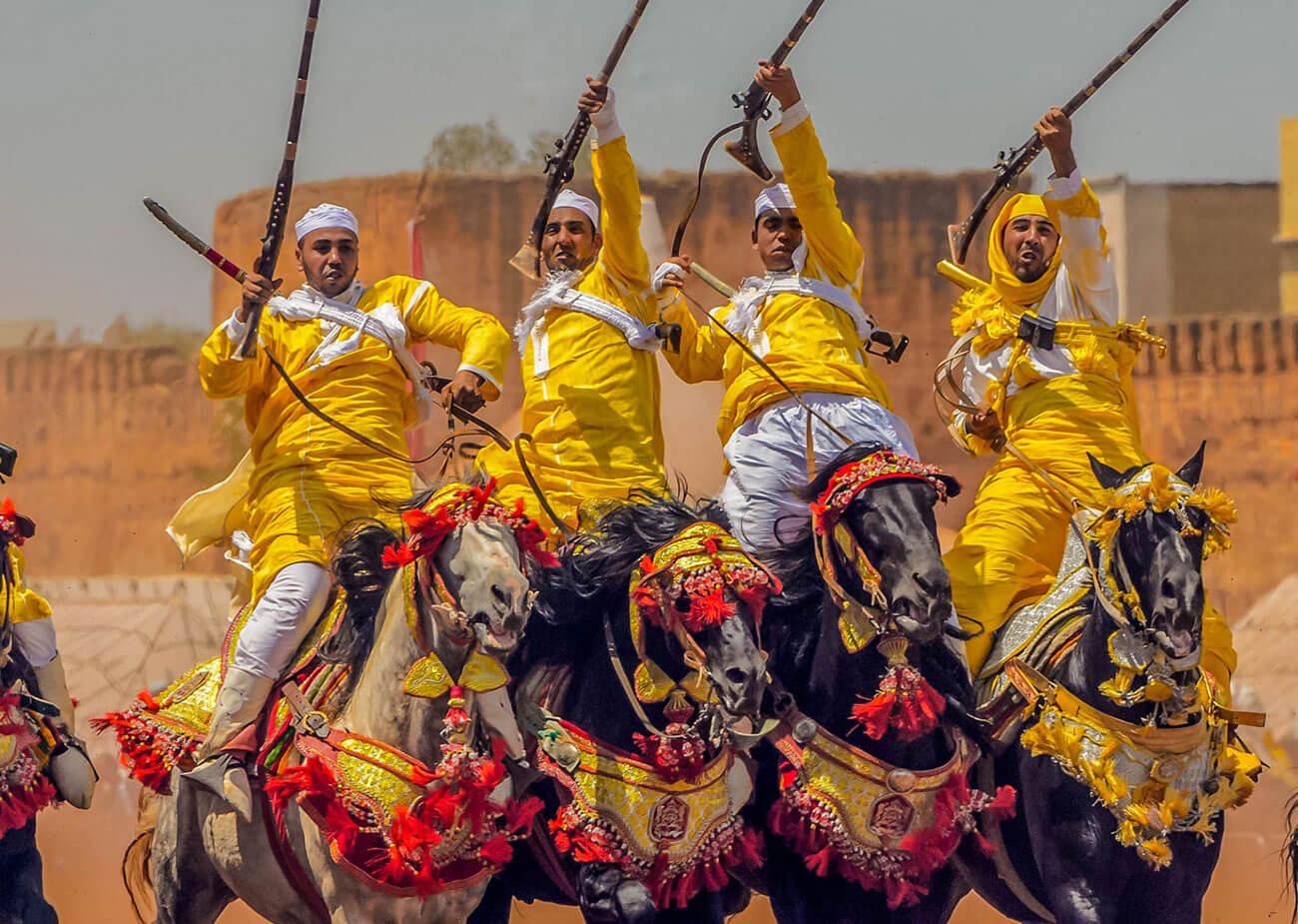 Les chevaux et la fantasia au Maroc 7