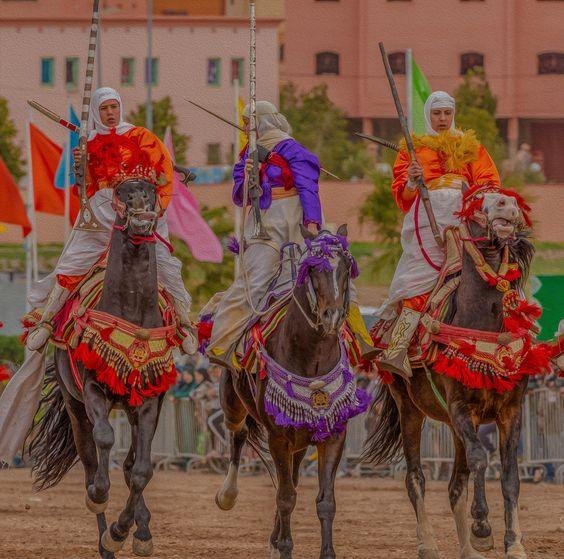 Les chevaux et la fantasia au Maroc 8