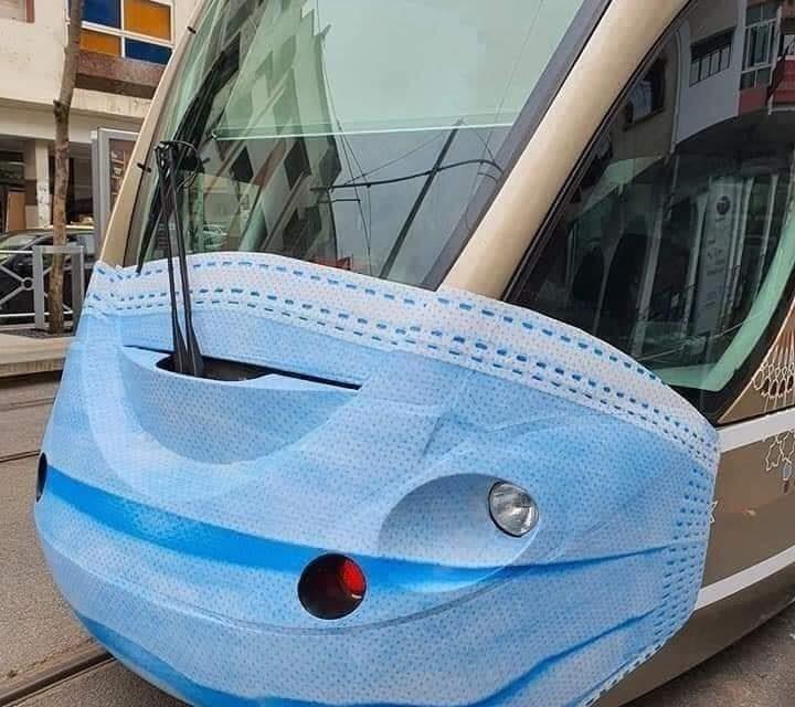 Covid-19: les trams de Rabat portent aussi les masques