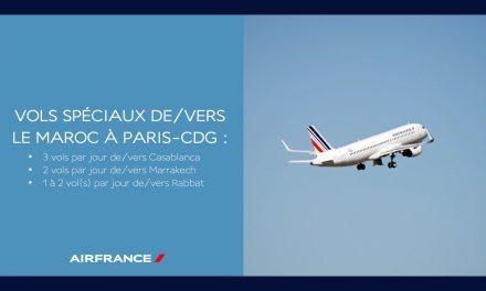 Des vols spéciaux Air France vers le Maroc