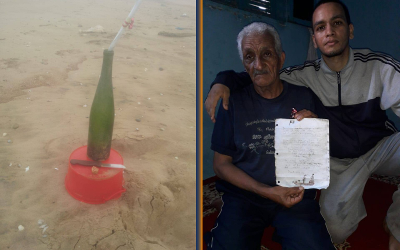 Incroyable mai vrai; une bouteille jetée à la mer aux  Etats-Unis retrouvée au Maroc 1