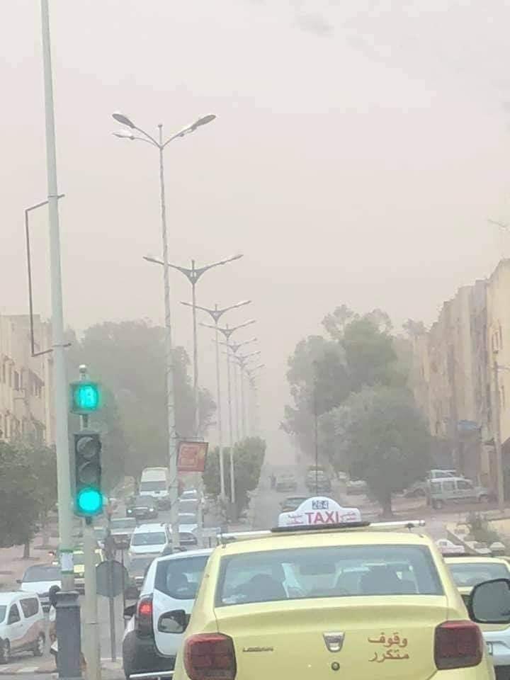 violente tempête de poussière à Casablanca 1
