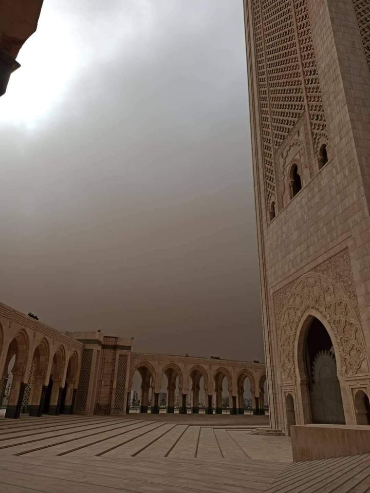 violente tempête de poussière à Casablanca 5