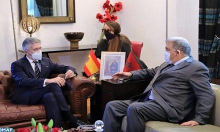 """marlaska; La coordination avec le Maroc est """"à son meilleur niveau"""""""