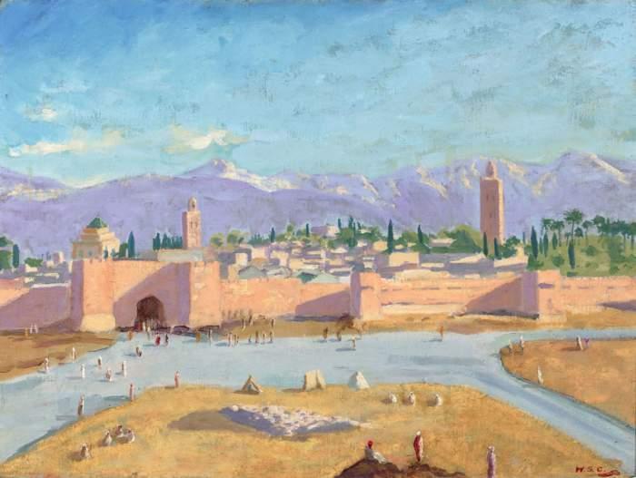 Le célèbre tableau «Scene at Marrakech, circa 1935» de Churchill mis aux enchères 2