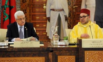 le Roi réitère au Président Mahmoud Abbas la position constante du Maroc soutenant la cause palestinienne