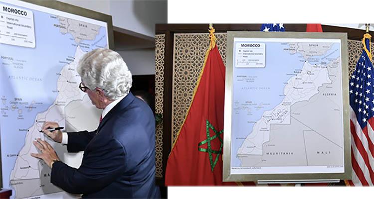 David Fischer présente la carte complète du Maroc officiellement adoptée par le gouvernement US 1