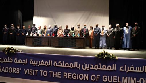 Des ambassadeurs au Maroc s'informent des atouts économiques, touristiques et d'investissement de Guelmim-Oued Noun 1