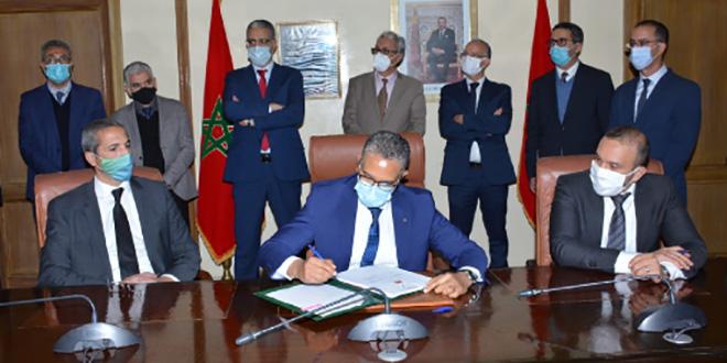 Signature des contrats du projet du parc éolien Jbel Lahdid à Essaouira 1