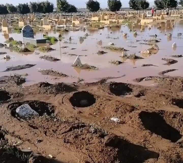 cimetières de CASABLANCA SONT aussi victimeS des intempéries