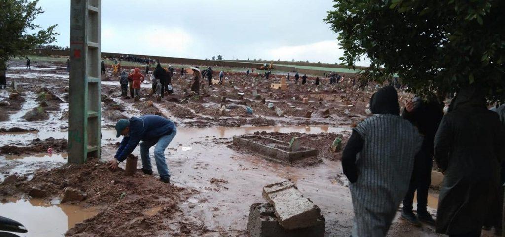 cimetières de CASABLANCA SONT aussi victimeS des intempéries 4