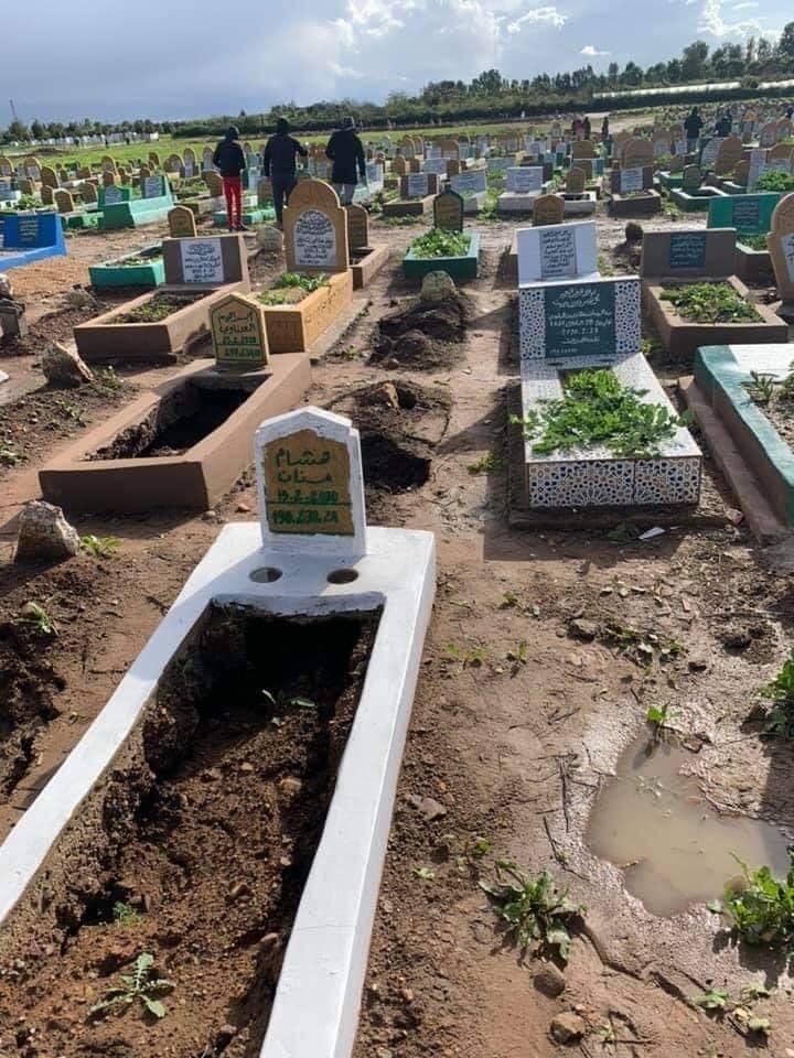 cimetières de CASABLANCA SONT aussi victimeS des intempéries 5