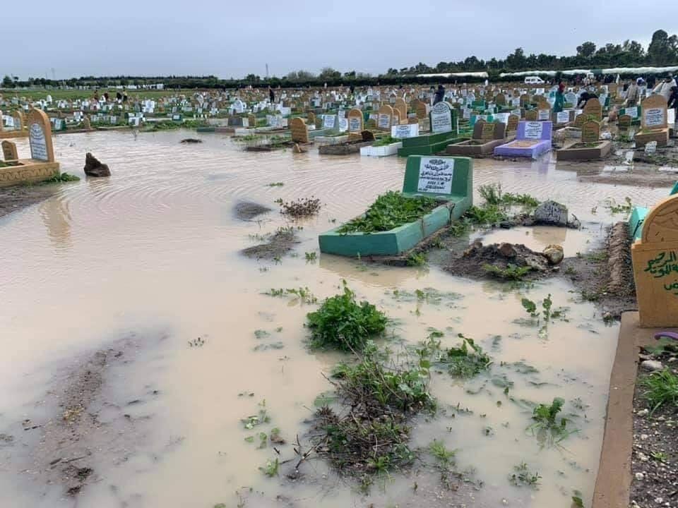 cimetières de CASABLANCA SONT aussi victimeS des intempéries 6