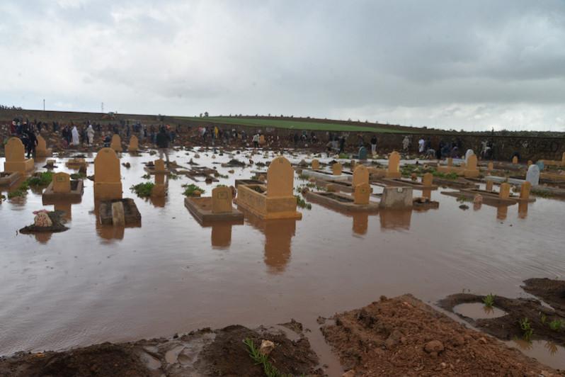 cimetières de CASABLANCA SONT aussi victimeS des intempéries 1