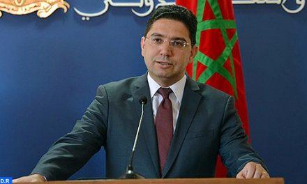 Entretien téléphonique entre M. Bourita et son homologue mauritanien