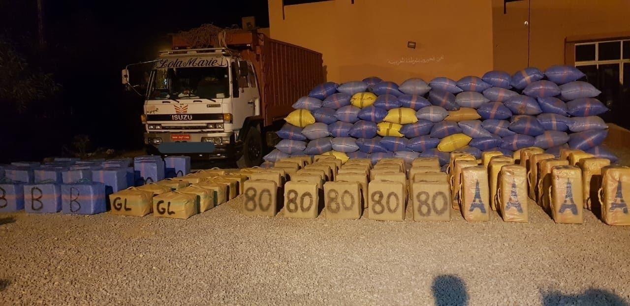 saisie de 9 tonnes de cannabis DANS LA RÉGION DE Guelmim