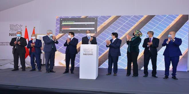 Inauguration de la première station solaire privée d'El Jadida à l'usine Nestlé