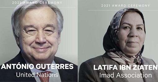 Latifa Ibn Ziaten et Antonio Guterres co-lauréats du prix Zayed pour la fraternité