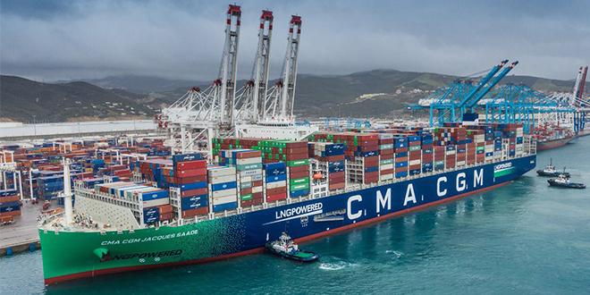 Tanger Med: escale du plus grand porte-conteneurs au monde propulsé au gaz naturel liquéfié