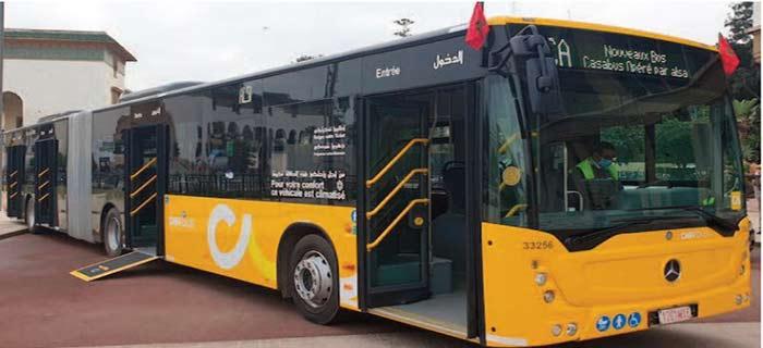 Les nouveaux bus de Casablanca sont déjà la cible d'un acte de vandalisme
