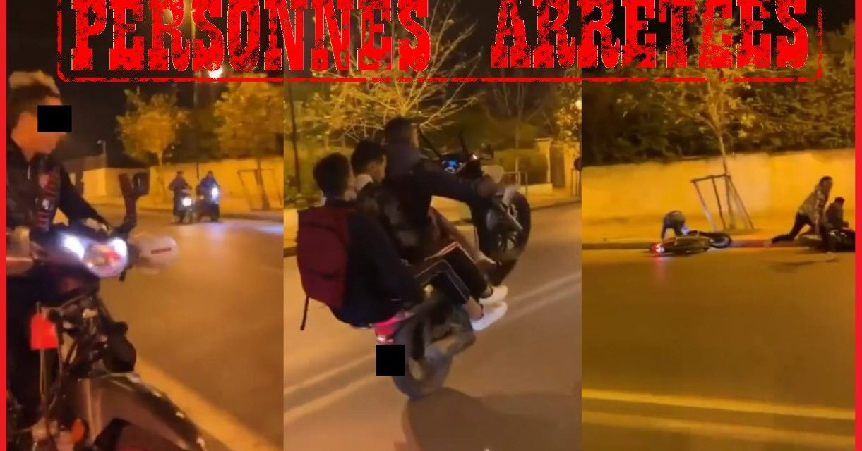 Interpellation Des jeunes à motos QUI ONT FORCÉ un barrage de police À RABAT
