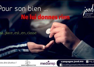 une campagne de L'ASSOCIATION JOOD SUR LA MENDICITÉ INFANTILE fait polémique