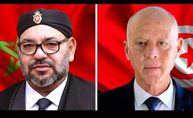 le Roi félicite le président tunisien à l'occasion de la fête d'indépendance de son pays