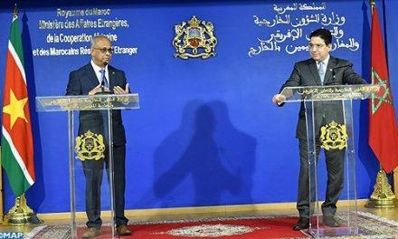 Le Suriname OUVRIRA une ambassade à Rabat et d'un consulat à Dakhla