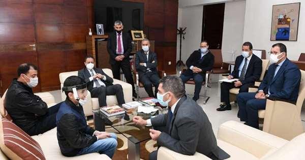 Mohammed Bilal Hamouti « petit inventeur » reçu par le ministre de l'Education nationale