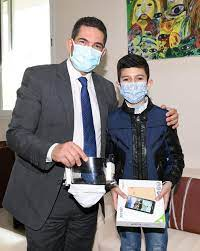 Mohammed Bilal Hamouti « petit inventeur » reçu par le ministre de l'Education nationale 2