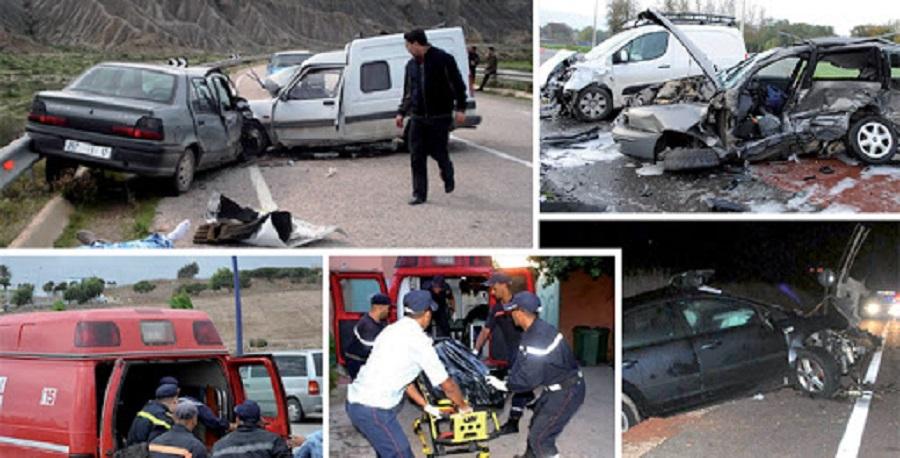 Accidents de la route: 29 morts et 2.128 blessés en une semaine