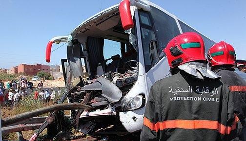 aCCIDENT: Renversement d'un autocar à Kénitra: deux mortS et 30 blessés