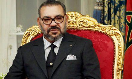 le Roi félicite M. Carlos Vila Nova, élu Président de la République démocratique de Sao Tomé-et-Principe
