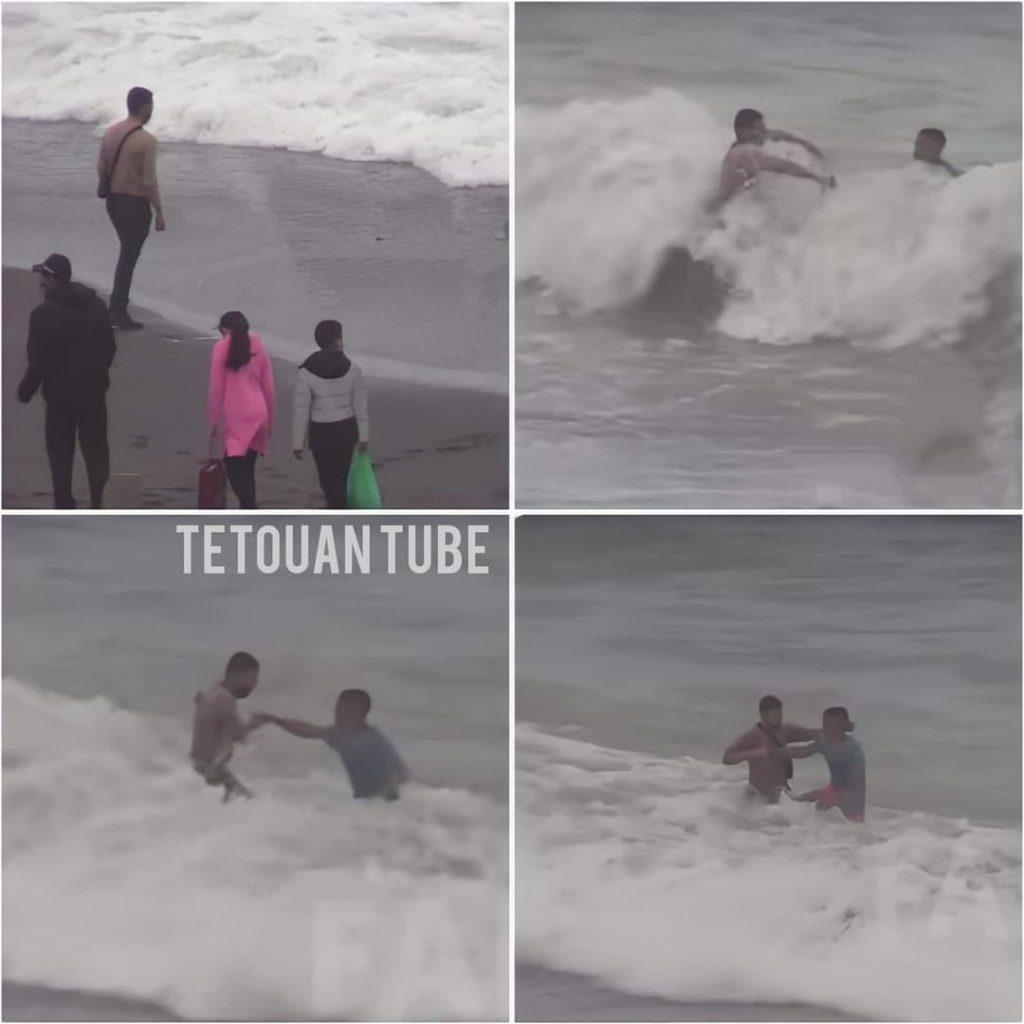 Plus de 70 jeunes marocains rejoignent Ceuta à la nage 2