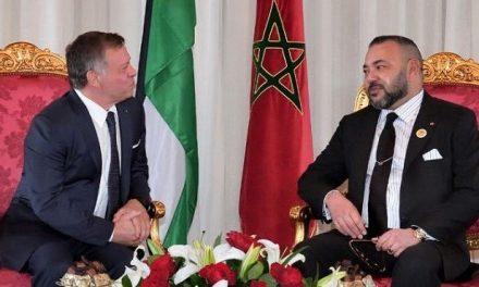 SM le Roi Mohammed VI s'entretient par téléphone avec le Roi de Jordanie