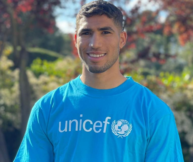 L'UNICEF au Maroc désigne Achraf HAKIMI Champion des droits de l'enfant