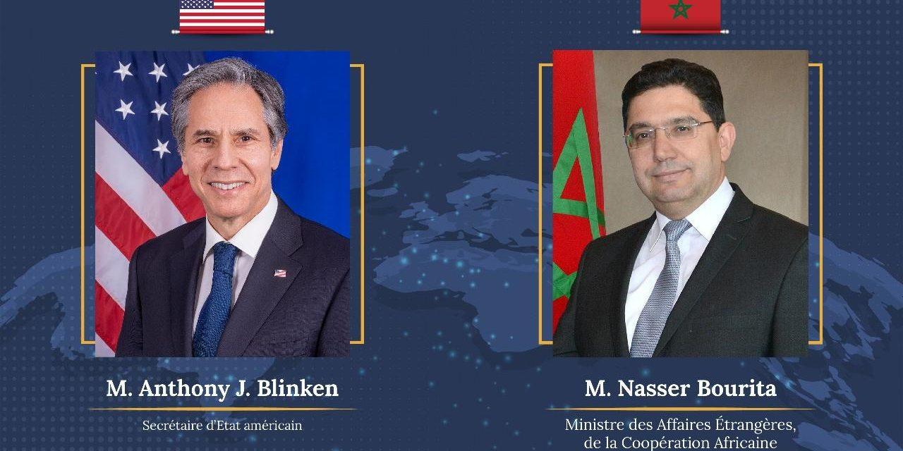 Bourita s'entretient avec le Secrétaire d'État américain, Anthony J. Blinken