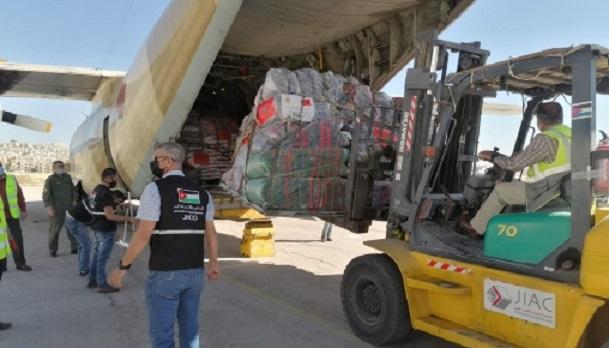 Arrivée de l'aide humanitaire marocaine d'urgence au profit des Palestiniens