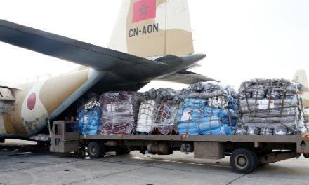 Arrivée au Caire de deux avions militaires marocains d'aide humanitaire au profit du peuple palestinien