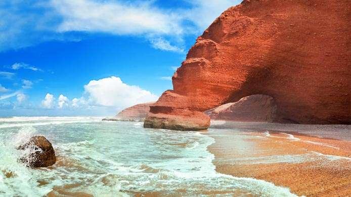 la liste des plages non conformes à la baignade au Maroc