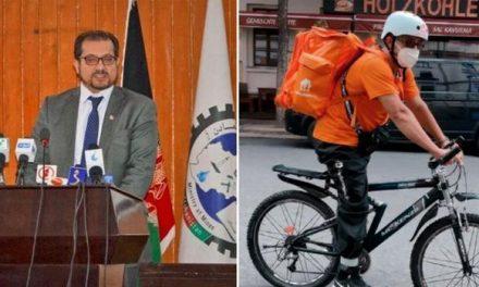 """""""Un travail comme un autre"""": un ex-ministre afghan devient livreur"""